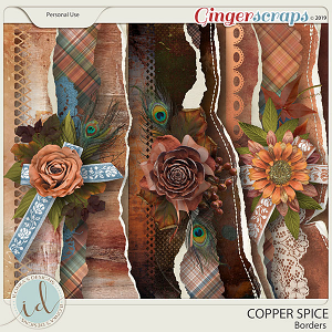 Copper Spice Borders by Ilonka's Designs