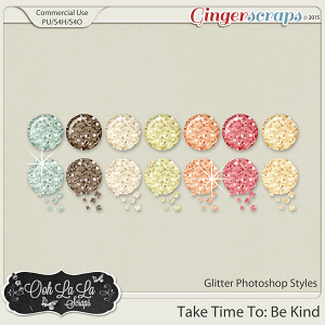 Take Time To Be Kind Glitter Photoshop Styles