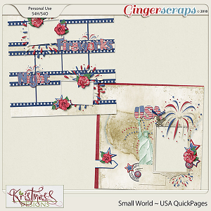 Small World ~ USA QuickPages Set1