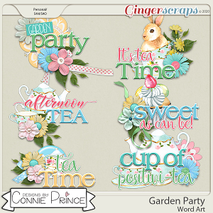 Garden Party - Word Art Pack by Connie Prince