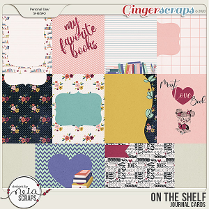 On the Shelf - Journal Cards -  by Neia Scraps