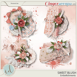 Sweet Blush Embellishments by Ilonka's Designs