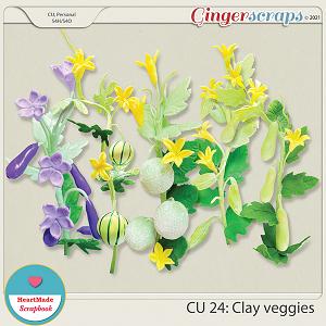 CU 24 - Clay flowers