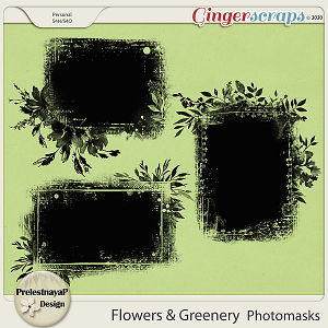 Flowers and Greenery Photomasks