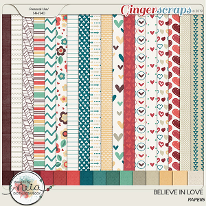 Believe In Love - Papers  by Neia Scraps