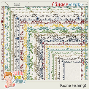 Gone Fishing Page Borders