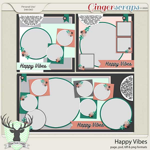 Happy Vibes by Dear Friends Designs