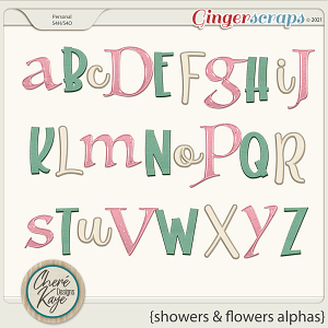 Showers and Flowers Alphas by Chere Kaye Designs