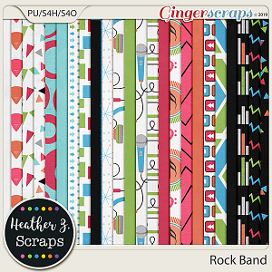 Rock Band PAPERS by Heather Z Scraps