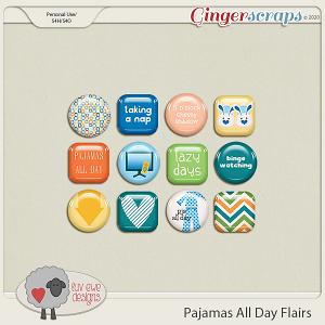 Pajamas All Day Flairs by Luv Ewe Designs