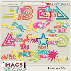 Awesome 80s STICKERS by MagsGraphics