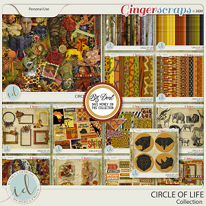 Circle Of Life Collection With Free Pack of Animal Templates by Ilonka's Designs