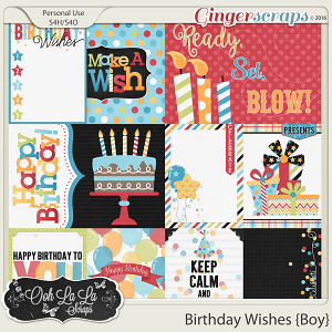 Birthday Wishes Boy Journal and Pocket Scrapbook Cards