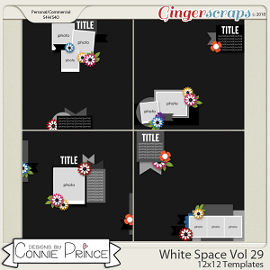 White Space Volume 29 - 12x12 Temps (CU Ok) by Connie Prince