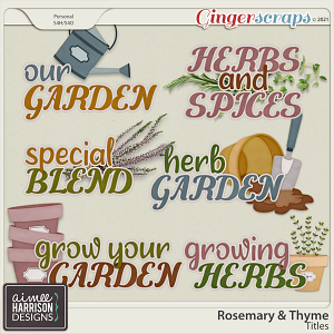 Rosemary and Thyme Titles by Aimee Harrison