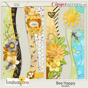 Bee Happy Borders by Lindsay Jane