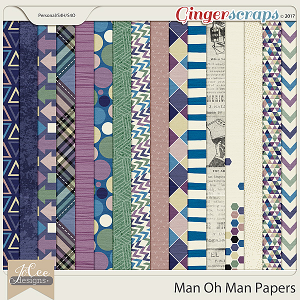 Man Oh Man Papers by JoCee Designs
