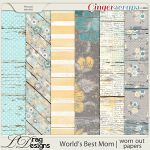 World's Best Mom: Worn Out Papers by LDragDesigns