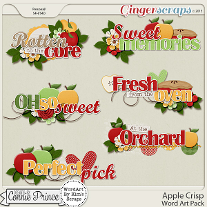 Apple Crisp - WordArt Pack