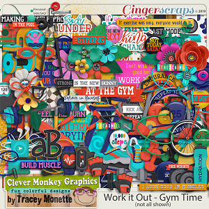 Work it Out - Gym Time Kit by Clever Monkey Graphics