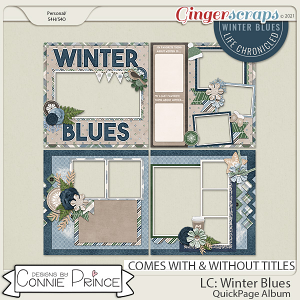 Life Chronicled: Winter Blues - Quick Pages by Connie Prince