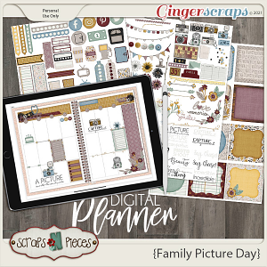 Family Picture Day Planner Pieces- Scraps N Pieces
