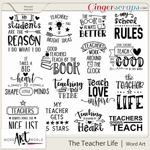 The Teacher Life Word Art