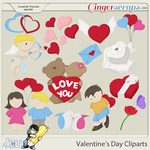 Doodles By Americo: VAlentine's Day Cliparts