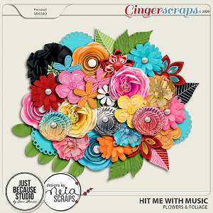 Hit Me With Music Flowers by JB Studio and Neia Scraps