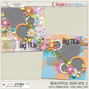 Beautiful Duo - Templates - VOL 3 - by Neia Scraps