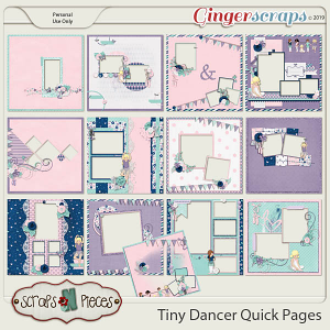 Tiny Dancer Quick Pages by Scraps N Pieces
