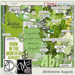Birthstone: August by Polka Dot Chicks & Memory Mosaic
