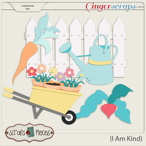 I Am Kind Garden CU Layered Templates - Scraps N Pieces