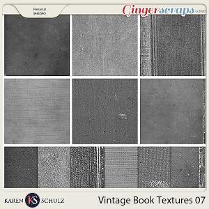 Vintage Book Textures 07 by Karen Schulz
