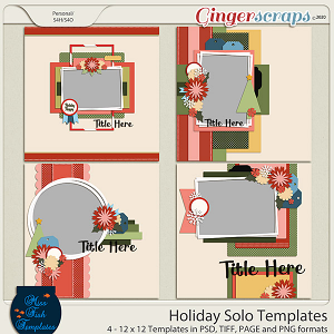 Holiday Solos Templates by Miss Fish