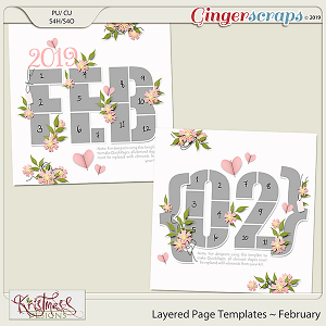 Layered Page Templates ~ February