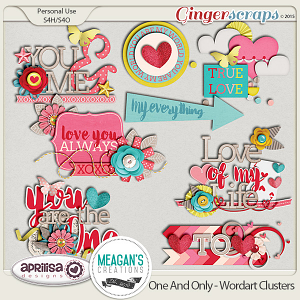 One And Only - Wordart Clusters