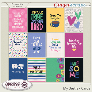 My Bestie - Cards by Aprilisa Designs