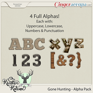 Gone Hunting Alphas by  Kreative Katrina & Clever Monkey Graphics