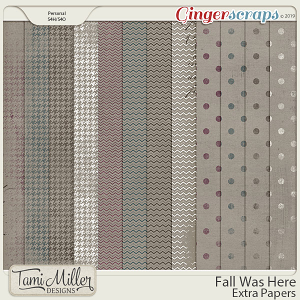 Fall Was Here Extra Papers by Tami Miller Designs