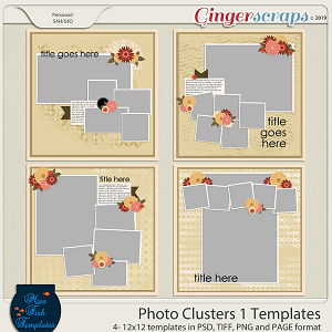 Photo Clusters 1 Templates by Miss Fish