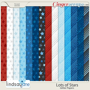 Lots of Stars Glitter Papers by Lindsay Jane