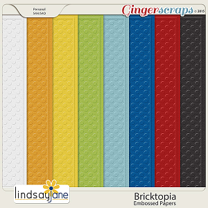 Bricktopia Embossed Papers by Lindsay Jane