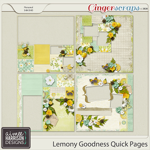Lemony Goodness Quickpages by Aimee Harrison