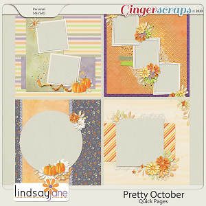 Pretty October Quick Pages by Lindsay Jane