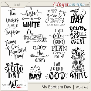 My Baptism Day Word Art