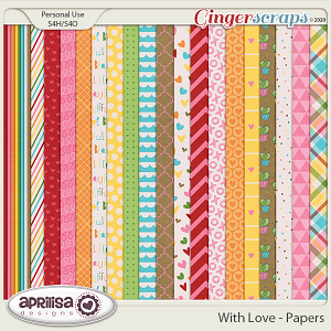 With Love - Papers by Aprilisa Designs