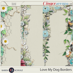 Love My Dog Borders by Karen Schulz