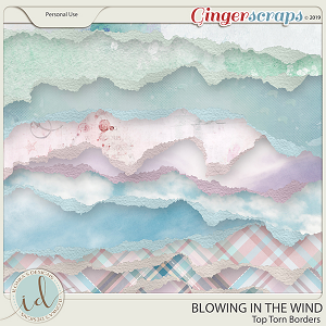 Blowing In The Wind Torn Top Borders by Ilonka's Designs
