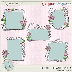 CU Scribble Frames Vol 4 by Ilonka's Designs